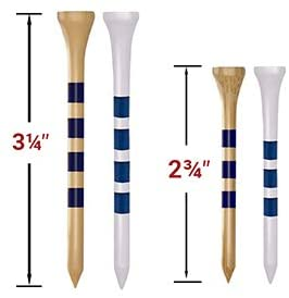 """31NNIE1A0+L. AC  - EAGLE WORK Bamboo Golf Tees, 4 (1-1/2"""", 2-1/8"""", 2-3/4'' & 3-1/4''), Pack of 150/100 Professional Tees, Reduce Friction & Side Spin, More Durable and Stable Golf Tees"""