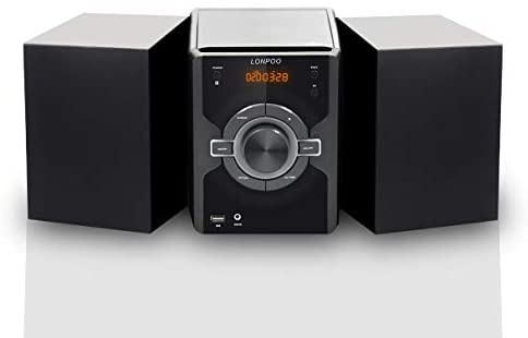 31w52tn SKL. AC  - Compact Stereo Shelf System 30W (2x15W) Bluetooth CD Player Home Music System, Digital FM Stereo with Speakers, Headphone Jack, Aux-in&USB, Remote Control