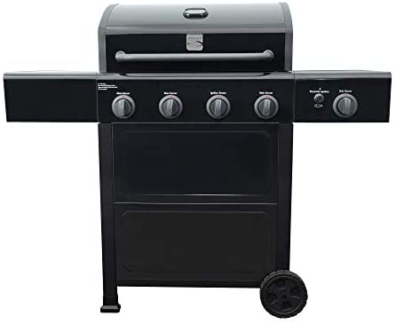 31xF0Yw2S0L. AC  - Kenmore PG-40406SOL-1-AM 4 Open Cart Grill with Side Burner, Black