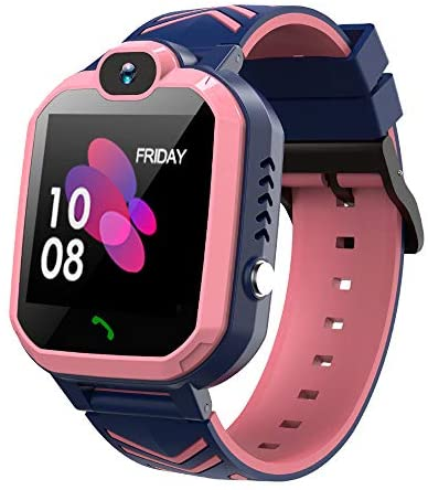 41EGjm9SYqL. AC  - Kids Waterproof Smart Watch Phone, GPS/LBS Tracker Smart Watch for Kids for 3-12 Year Old Compatible iOS Android Smart Watch Christmas Birthday Gifts for Kids(Excluding SIM Card)