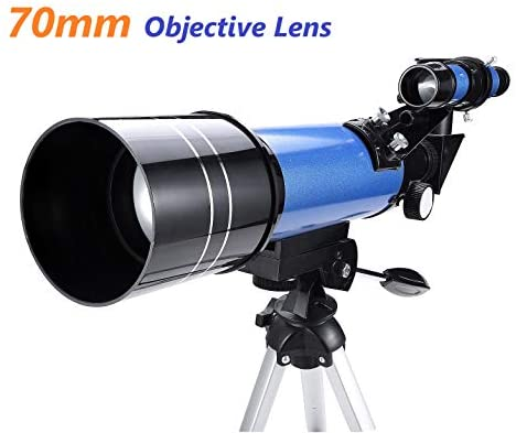 41GTBhDD4VL. AC  - MaxUSee 70mm Refractor Telescope with Tripod & Finder Scope for Kids & Astronomy Beginners, Portable Telescope with 4 Magnification eyepieces & Phone Adapter