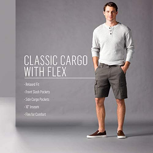 41LqJlmr QL. AC  - Wrangler Authentics Men's Classic Relaxed Fit Stretch Cargo Short