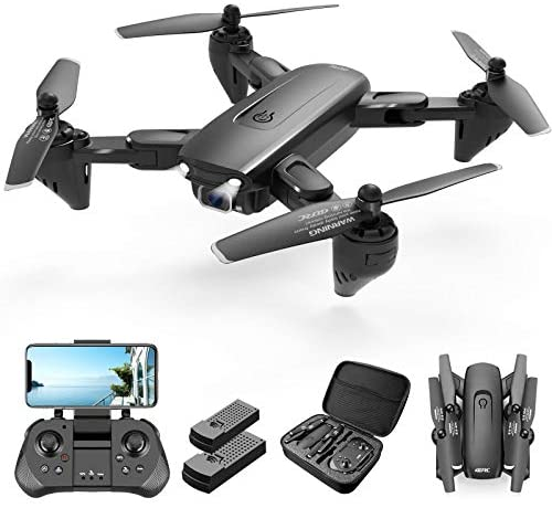 41N7B0wHNrL. AC  - 4DRC Drone with 1080P HD Camera, 2 Batteries and Carrying Case, FPV Live Video Camera,RC Quadcopter for Adults kids,with Auto Hover,3D Flip,Headless Mode,One Key Start,Waypoints Functions