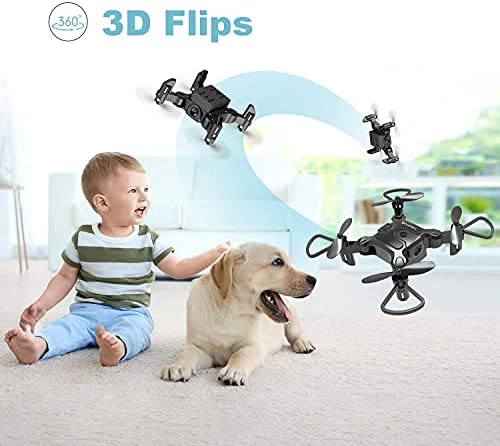 41Ndb76apOS. AC  - 4DRC Mini Drone with 720P Camera for Kids Beginners,RC Quadcopter Helicopter FPV HD Live Video,Toys Gifts for Boys Girl,3 Batteries,One Key Return,Headless Mode,Trajectory Flight,3D Flips
