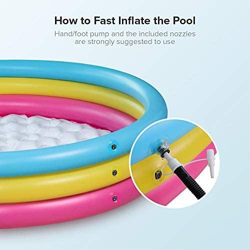 41YZBYAKrjL. AC  - Sable Kiddie Pool, Inflatable Baby Pool 58'' x 13'', Kids Swimming Pools for Babies, Toddlers, Outdoor, Indoor, Garden