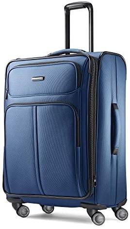 41juJthOmaL. AC  - Samsonite Leverage LTE Softside Expandable Luggage with Spinner Wheels, Poseidon Blue, Checked-Medium 25-Inch