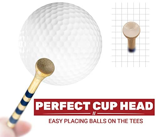 """41oDH16KsqL. AC  - EAGLE WORK Bamboo Golf Tees, 4 (1-1/2"""", 2-1/8"""", 2-3/4'' & 3-1/4''), Pack of 150/100 Professional Tees, Reduce Friction & Side Spin, More Durable and Stable Golf Tees"""