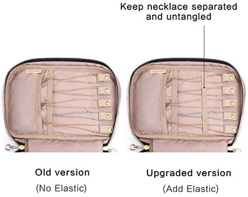 41wqkiXVfwL. AC  - BAGSMART Jewelry Organizer Case Travel Jewelry Storage Bag for Necklace, Earrings, Rings, Bracelet, Soft Pink