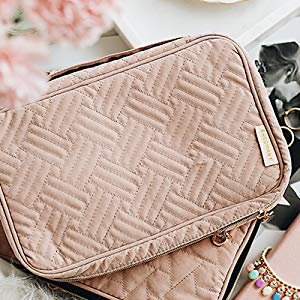 458aadd6 49ad 42c7 9536 2c0fb6c50671. CR0,0,300,300 PT0 SX300   - BAGSMART Jewelry Organizer Case Travel Jewelry Storage Bag for Necklace, Earrings, Rings, Bracelet, Soft Pink
