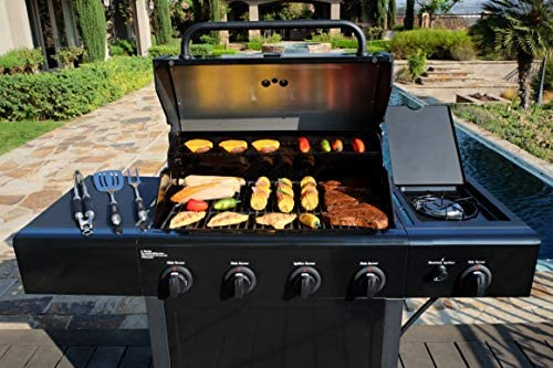 51+51EtXZRL. AC  - Kenmore PG-40406SOL-1-AM 4 Open Cart Grill with Side Burner, Black