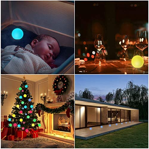 510GfgPoiFL. AC  - WHATOOK Floating Pool Lights: 6Pack 16 Color Changing Remote Led Ball Light IP68 Waterproof Bath Toys,Replaceable Battery Hot Tub Glow Night Lights for Swimming Pool,Garden,Wedding Decor