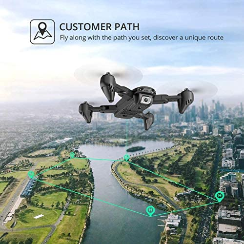 5121AhcEgWL. AC  - 4DRC Drone with 1080P HD Camera, 2 Batteries and Carrying Case, FPV Live Video Camera,RC Quadcopter for Adults kids,with Auto Hover,3D Flip,Headless Mode,One Key Start,Waypoints Functions