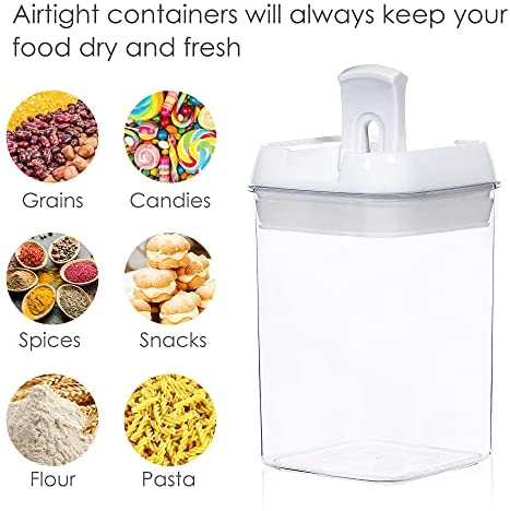 514+bsIrQQS. AC  - Airtight Food Storage Containers, Vtopmart 7 Pieces BPA Free Plastic Cereal Containers with Easy Lock Lids, for Kitchen Pantry Organization and Storage, Include 24 Labels