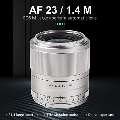 515bBcJCZmL. AC  - VILTROX 23mm F1.4 EF-M Mount STM Autofocus Lens, f/1.4 Large Aperture APS-C Lens Compatible with Canon EOS-M Mount M10 M100 M3 M5 M50 M6 M60 II