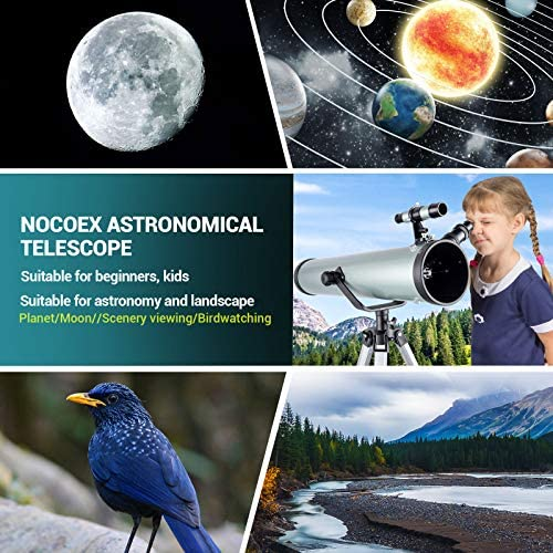 517AGLA0nLL. AC  - Astronomical Telescope for Kids and Astronomy Beginners, 700mm/76mm Starter Scope Good Partner to View Landscape and Planet, with Tripod, Wire Shutter, Phone Adapter