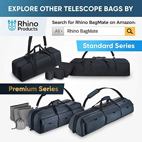 5183YPN9q3L. AC  - Multipurpose Telescope Case - Fits Most Telescopes - 30x11.5X10 inch - Smart Phone Adapter Included