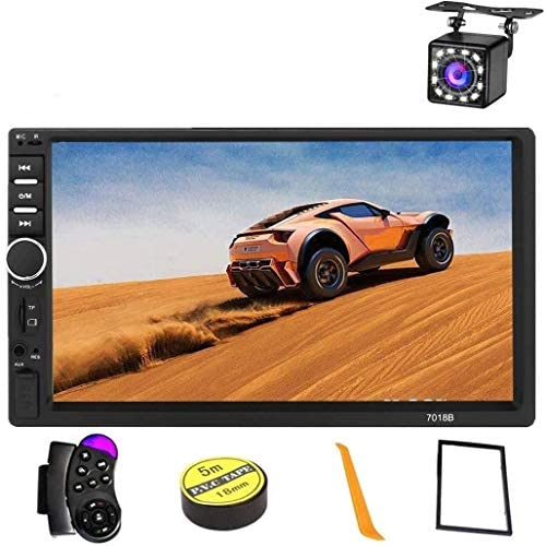 51A5KquluBL. AC  - Car Stereo 2 Din,7 inch Touch Screen MP5/MP4/MP3 Multimedia Player,Bluetooth Audio,Car Stereo Receivers,FM Radio,USB/SD/AUX Input,Mirror Link,Support Steering Wheel Remote Control,Rear View Camera