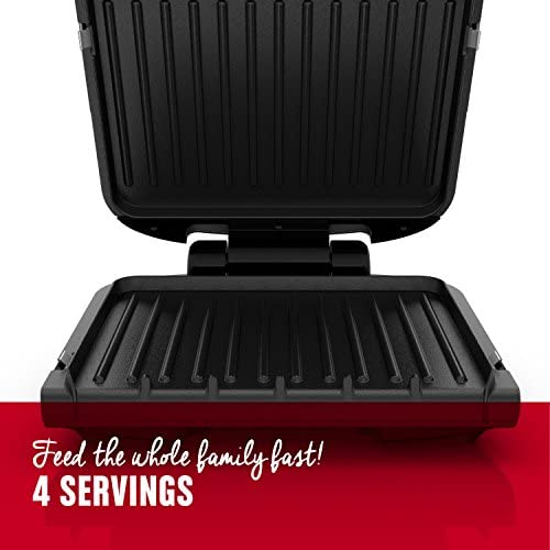51OPPYbM2uL. AC  - George Foreman 4-Serving Removable Plate Grill and Panini Press, Black, GRP1060B