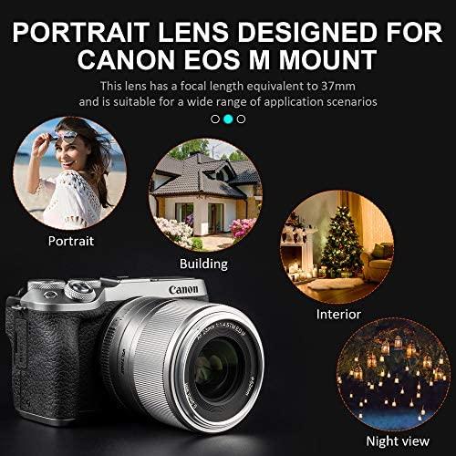 51R2ga9iiZL. AC  - VILTROX 23mm F1.4 EF-M Mount STM Autofocus Lens, f/1.4 Large Aperture APS-C Lens Compatible with Canon EOS-M Mount M10 M100 M3 M5 M50 M6 M60 II