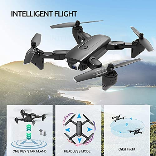 51RM3BSl0 S. AC  - 4DRC Drone with 1080P HD Camera, 2 Batteries and Carrying Case, FPV Live Video Camera,RC Quadcopter for Adults kids,with Auto Hover,3D Flip,Headless Mode,One Key Start,Waypoints Functions