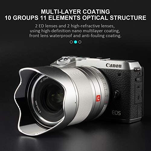 51RiRmSwkGL. AC  - VILTROX 23mm F1.4 EF-M Mount STM Autofocus Lens, f/1.4 Large Aperture APS-C Lens Compatible with Canon EOS-M Mount M10 M100 M3 M5 M50 M6 M60 II