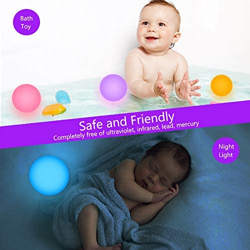 51TbJuPcixL. AC  - FROQUII Floating Pool Lights, 16 Colors Pond LED Ball Lights with Remote Control, Waterproof Cordless Hot Tub Lights Kids Night Light Ball Lamp for Pool Garden Backyard Lawn Beach Party Decor (1pcs)