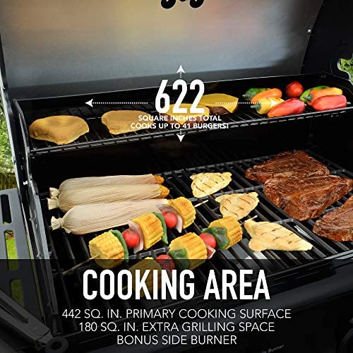 51VxC3QV5DL. AC  - Kenmore PG-40406SOL-1-AM 4 Open Cart Grill with Side Burner, Black