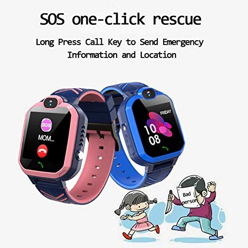 51W8BWvIbpL. AC  - Kids Waterproof Smart Watch Phone, GPS/LBS Tracker Smart Watch for Kids for 3-12 Year Old Compatible iOS Android Smart Watch Christmas Birthday Gifts for Kids(Excluding SIM Card)