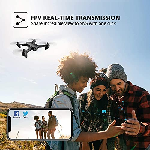 51cVDd5DwNS. AC  - 4DRC Drone with 1080P HD Camera, 2 Batteries and Carrying Case, FPV Live Video Camera,RC Quadcopter for Adults kids,with Auto Hover,3D Flip,Headless Mode,One Key Start,Waypoints Functions