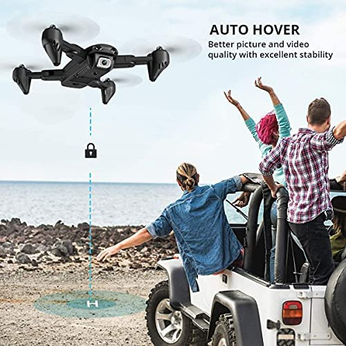 51cjQ6XUK4S. AC  - 4DRC Drone with 1080P HD Camera, 2 Batteries and Carrying Case, FPV Live Video Camera,RC Quadcopter for Adults kids,with Auto Hover,3D Flip,Headless Mode,One Key Start,Waypoints Functions