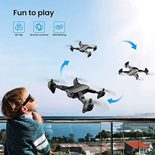 51eeVUnTgZS. AC  - 4DRC Drone with 1080P HD Camera, 2 Batteries and Carrying Case, FPV Live Video Camera,RC Quadcopter for Adults kids,with Auto Hover,3D Flip,Headless Mode,One Key Start,Waypoints Functions