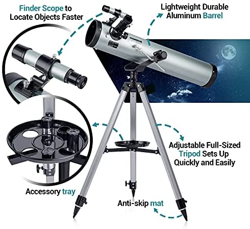 51fC+NYcd5S. AC  - Astronomical Telescope for Kids and Astronomy Beginners, 700mm/76mm Starter Scope Good Partner to View Landscape and Planet, with Tripod, Wire Shutter, Phone Adapter