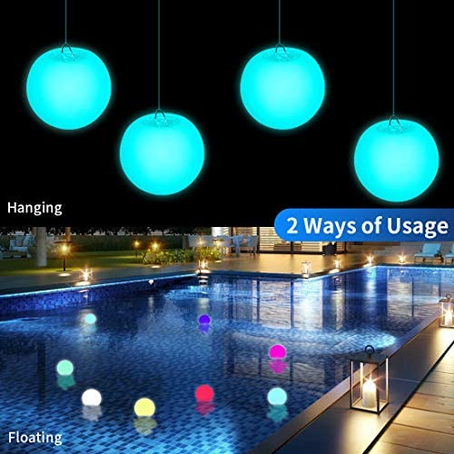 51fdIHMjQLL. AC  - WHATOOK Floating Pool Lights: 6Pack 16 Color Changing Remote Led Ball Light IP68 Waterproof Bath Toys,Replaceable Battery Hot Tub Glow Night Lights for Swimming Pool,Garden,Wedding Decor