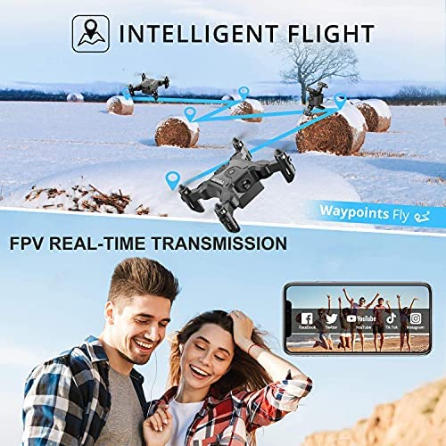 51pGjD70SrS. AC  - 4DRC Mini Drone with 720P Camera for Kids Beginners,RC Quadcopter Helicopter FPV HD Live Video,Toys Gifts for Boys Girl,3 Batteries,One Key Return,Headless Mode,Trajectory Flight,3D Flips