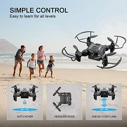 51pJnX8kMnL. AC  - 4DRC Mini Drone with 720P Camera for Kids Beginners,RC Quadcopter Helicopter FPV HD Live Video,Toys Gifts for Boys Girl,3 Batteries,One Key Return,Headless Mode,Trajectory Flight,3D Flips