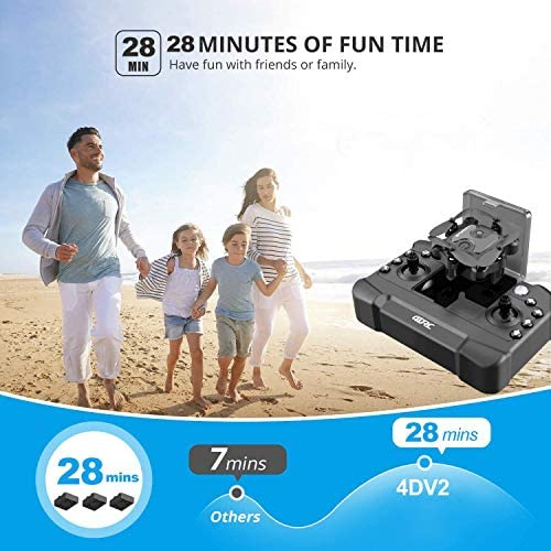 51rNK7kQ7ZL. AC  - 4DRC Mini Drone with 720P Camera for Kids Beginners,RC Quadcopter Helicopter FPV HD Live Video,Toys Gifts for Boys Girl,3 Batteries,One Key Return,Headless Mode,Trajectory Flight,3D Flips