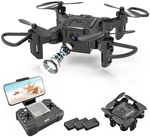 51teLAcYgKL. AC  - 4DRC Mini Drone with 720P Camera for Kids Beginners,RC Quadcopter Helicopter FPV HD Live Video,Toys Gifts for Boys Girl,3 Batteries,One Key Return,Headless Mode,Trajectory Flight,3D Flips