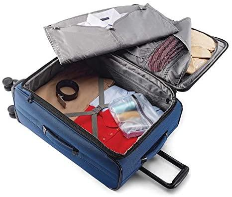 51tfqEQ9g L. AC  - Samsonite Leverage LTE Softside Expandable Luggage with Spinner Wheels, Poseidon Blue, Checked-Medium 25-Inch
