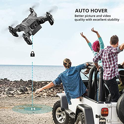 51v IAn178S. AC  - 4DRC Mini Drone with 720P Camera for Kids Beginners,RC Quadcopter Helicopter FPV HD Live Video,Toys Gifts for Boys Girl,3 Batteries,One Key Return,Headless Mode,Trajectory Flight,3D Flips