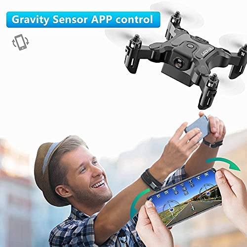 51wdW90Rx4S. AC  - 4DRC Mini Drone with 720P Camera for Kids Beginners,RC Quadcopter Helicopter FPV HD Live Video,Toys Gifts for Boys Girl,3 Batteries,One Key Return,Headless Mode,Trajectory Flight,3D Flips