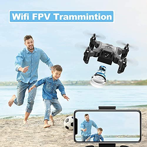 51x5lK8ejvS. AC  - 4DRC Mini Drone with 720P Camera for Kids Beginners,RC Quadcopter Helicopter FPV HD Live Video,Toys Gifts for Boys Girl,3 Batteries,One Key Return,Headless Mode,Trajectory Flight,3D Flips
