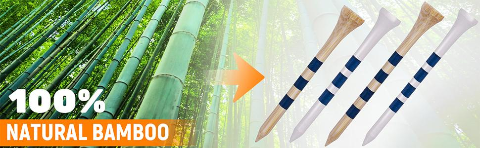 """524d2085 3f76 472a 9cb0 9651a80e9e58.  CR0,0,970,300 PT0 SX970 V1    - EAGLE WORK Bamboo Golf Tees, 4 (1-1/2"""", 2-1/8"""", 2-3/4'' & 3-1/4''), Pack of 150/100 Professional Tees, Reduce Friction & Side Spin, More Durable and Stable Golf Tees"""