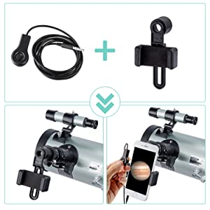 57595daf 5a1f 4933 b89d 01048889b4b9.  CR0,0,1500,1500 PT0 SX300 V1    - Astronomical Telescope for Kids and Astronomy Beginners, 700mm/76mm Starter Scope Good Partner to View Landscape and Planet, with Tripod, Wire Shutter, Phone Adapter