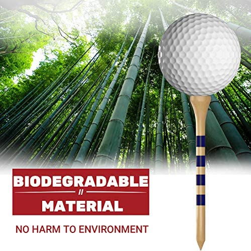 """61 UUG8BqnL. AC  - EAGLE WORK Bamboo Golf Tees, 4 (1-1/2"""", 2-1/8"""", 2-3/4'' & 3-1/4''), Pack of 150/100 Professional Tees, Reduce Friction & Side Spin, More Durable and Stable Golf Tees"""