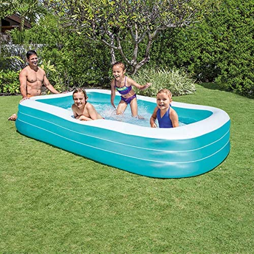 """61GxRKS19aL. AC  - Intex Swim Center Family Inflatable Pool, 120"""" X 72"""" X 22"""", for Ages 6+"""