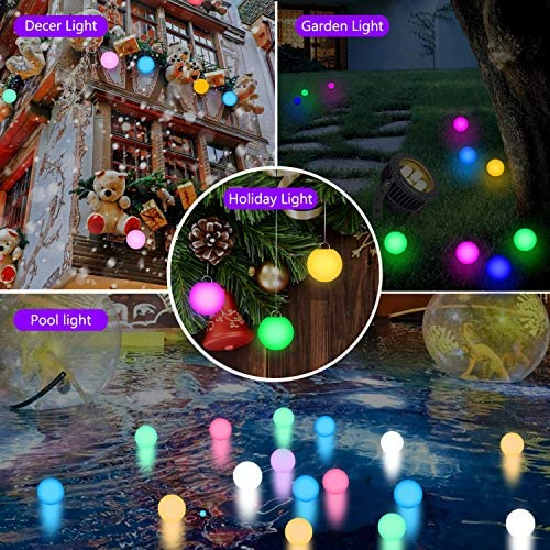 61HfMpSWBLL. AC  - FROQUII Floating Pool Lights, 16 Colors Pond LED Ball Lights with Remote Control, Waterproof Cordless Hot Tub Lights Kids Night Light Ball Lamp for Pool Garden Backyard Lawn Beach Party Decor (1pcs)