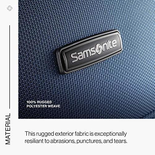 61HvMC2ZIgL. AC  - Samsonite Leverage LTE Softside Expandable Luggage with Spinner Wheels, Poseidon Blue, Checked-Medium 25-Inch