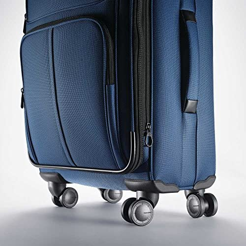 61PqZrmhKiL. AC  - Samsonite Leverage LTE Softside Expandable Luggage with Spinner Wheels, Poseidon Blue, Checked-Medium 25-Inch