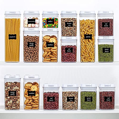 61eLp2679kS. AC  - Airtight Food Storage Containers, Vtopmart 7 Pieces BPA Free Plastic Cereal Containers with Easy Lock Lids, for Kitchen Pantry Organization and Storage, Include 24 Labels