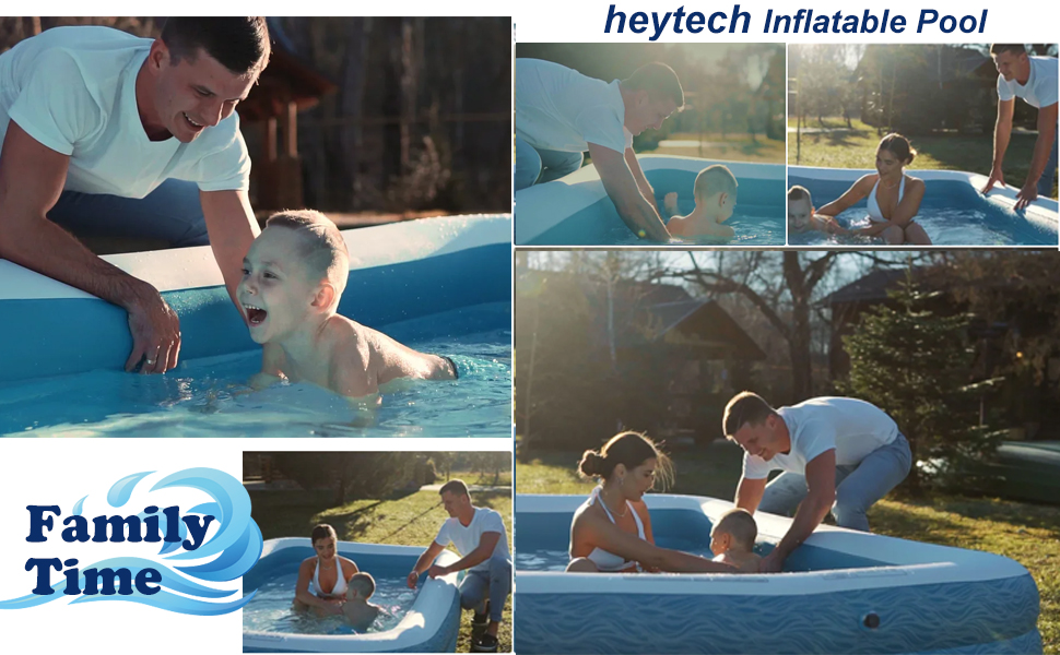 """6d4865df 7867 45ca bf0e 1bc1ee26a621.  CR0,0,970,600 PT0 SX970 V1    - heytech Family Inflatable Swimming Pool, 118"""" X 72"""" X 22"""" Full-Sized Inflatable Lounge Pool for Kiddie, Kids, Adult, Toddlers for Ages 3+, Outdoor, Garden, Backyard Summer Water Party Blow up Pool…"""